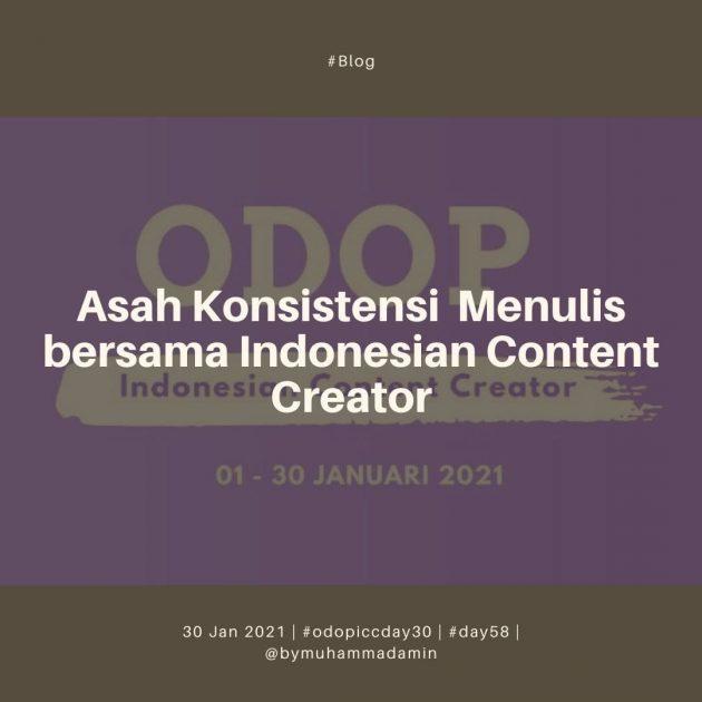 Asah Konsistensi Menulis bersama Indonesia Content Creator
