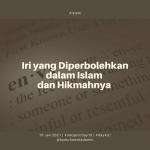Iri yang Diperbolehkan dalam Islam dan Hikmahnya
